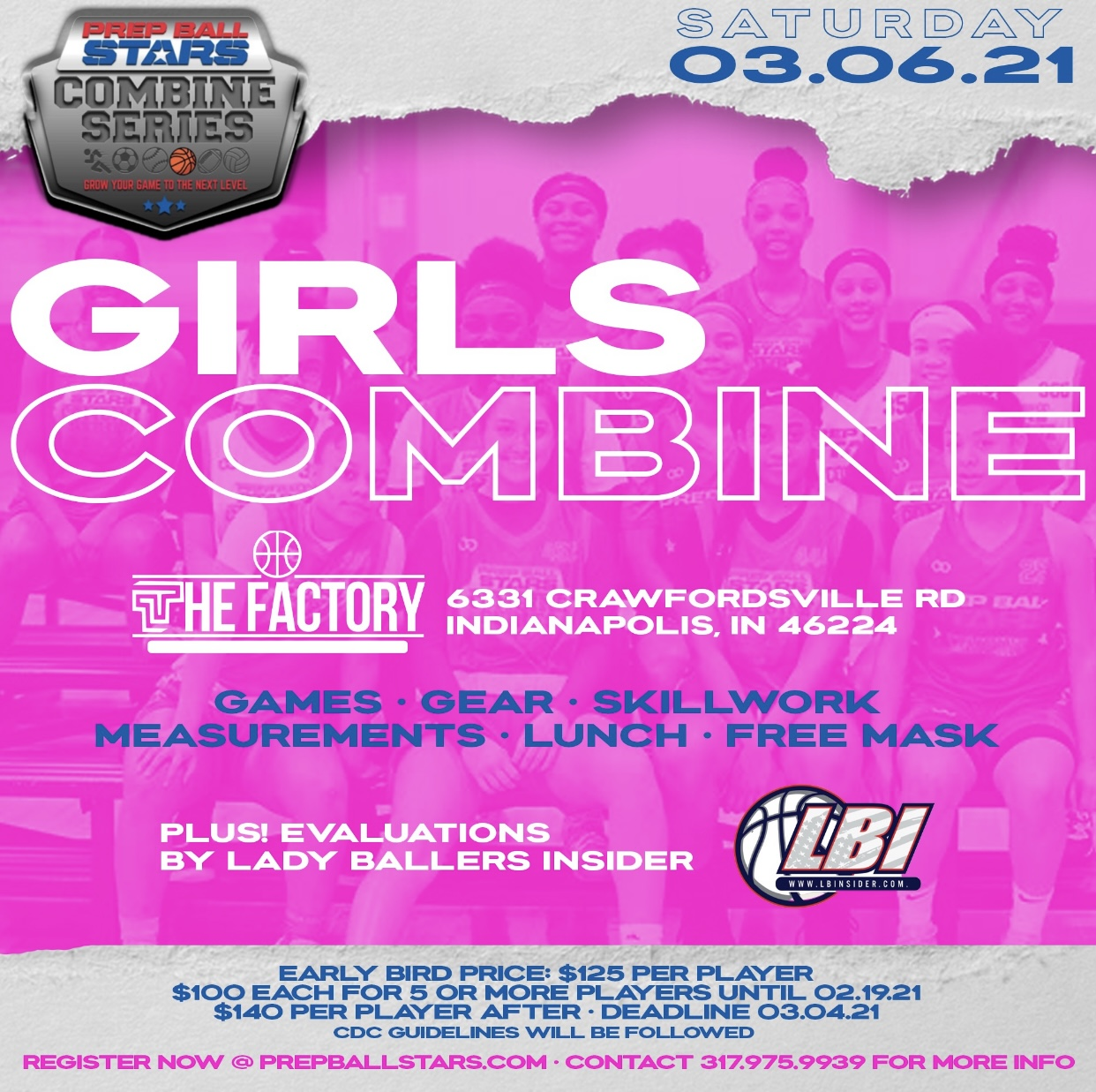 Ladies FIRST!  Prep Ball Stars Combine For Girls March 6th
