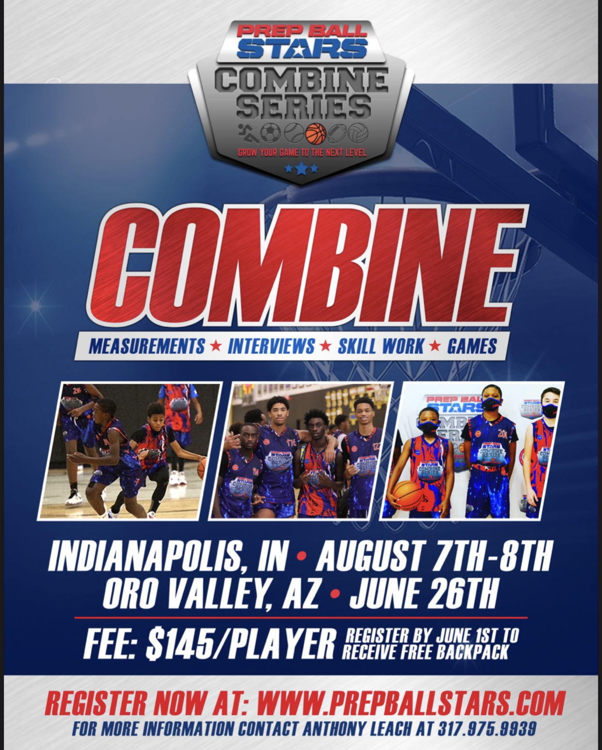 PREP BALL STARS COMBINE is August 7th and August 8th!